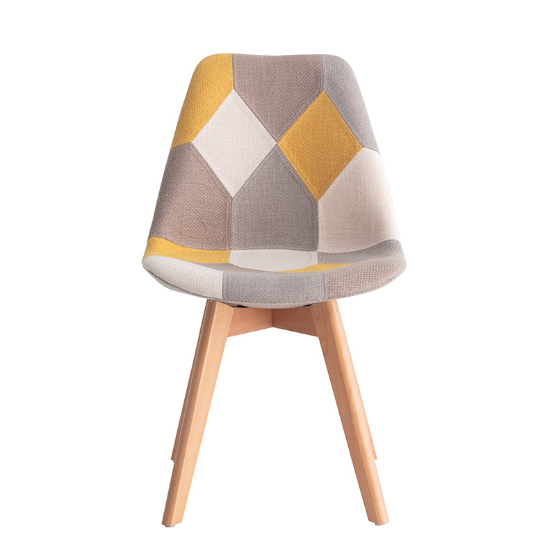 Modern Design Patchwork Fabric Dining Chairs