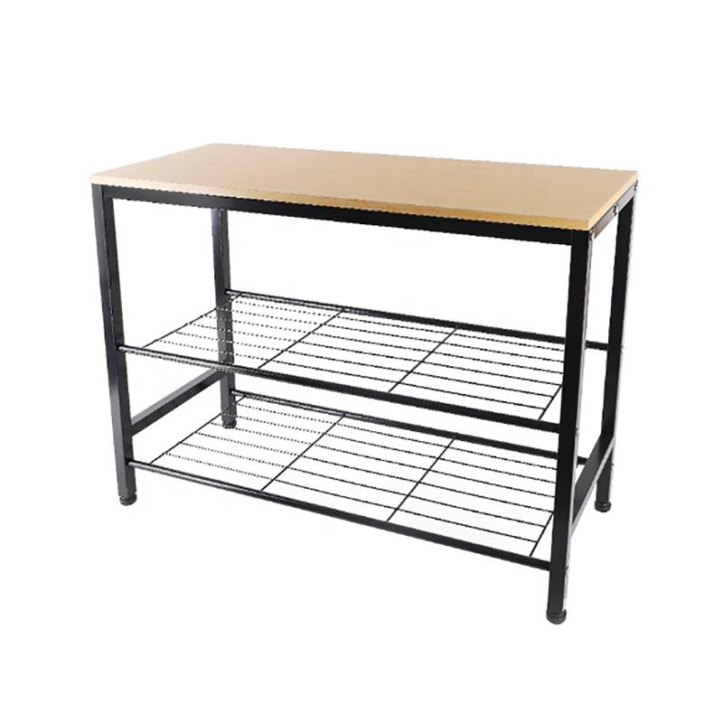 3-Tier Shoe Rack Bench Bedroom Furniture Tables Entryway Organizer