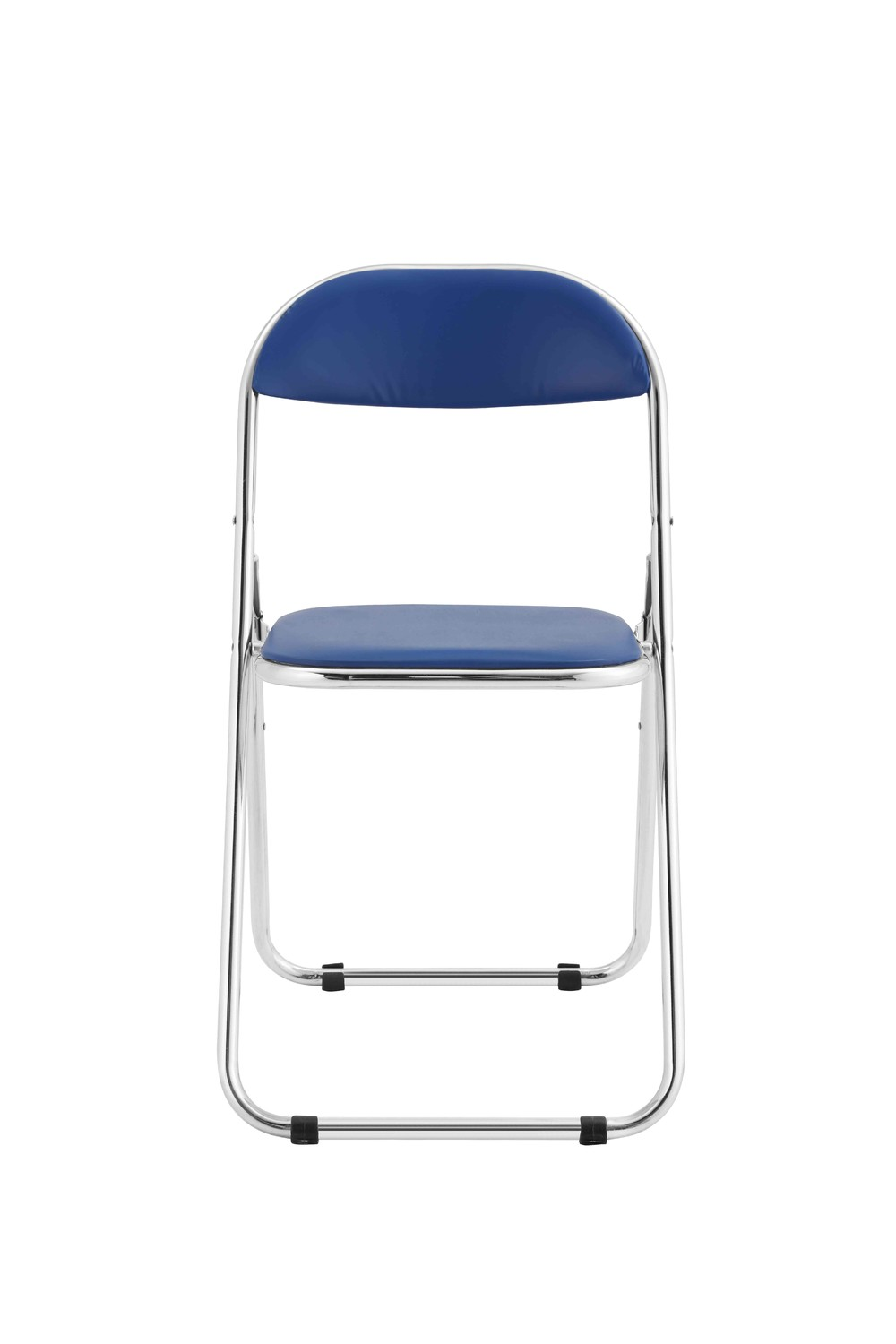 Premium steel frame metal folding chair with plastic base and back