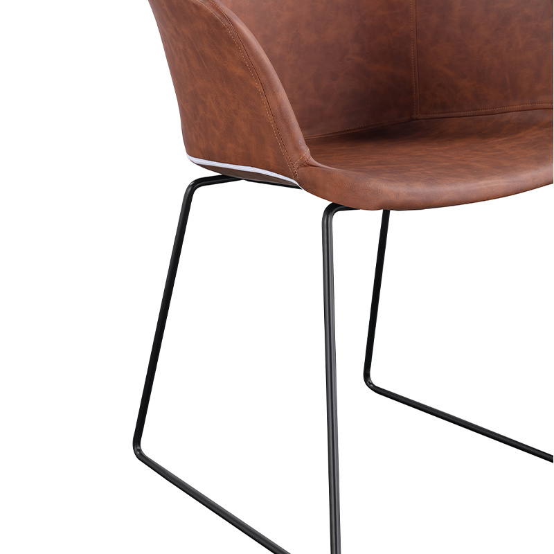 metal legs chair wholesale hot sale dining chair factory supply dining chair Modern comfortable