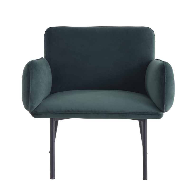 Factory Custom Modern Furniture Upholstered Fabric Leisure Accent Hotel Armchair single sofa chair